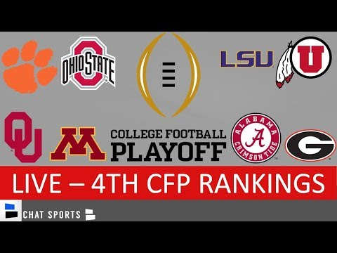 College Football Playoff Rankings - Top 25 Teams For Nov. 26th