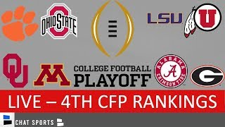 The latest cfp rankings are out for 2020 college football playoff! full top 25 is here, but everyone wants to know who inside 6. lsu footb...