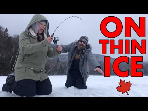 A Day On The Ice | Tilley Lakes | Walleye Ice Fishing In Central Algoma Northern Ontario | First Ice