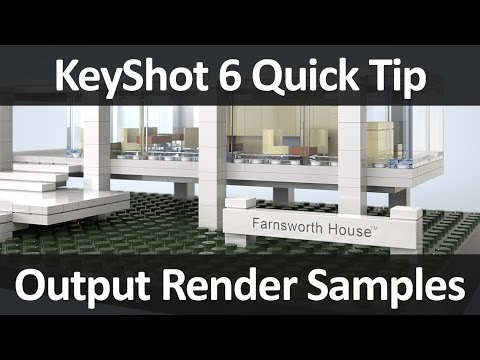 KeyShot Quick Tip: Output Render Samples