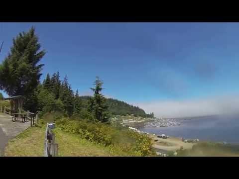 Motorbiking from Clallam Bay to Neah Bay, WA