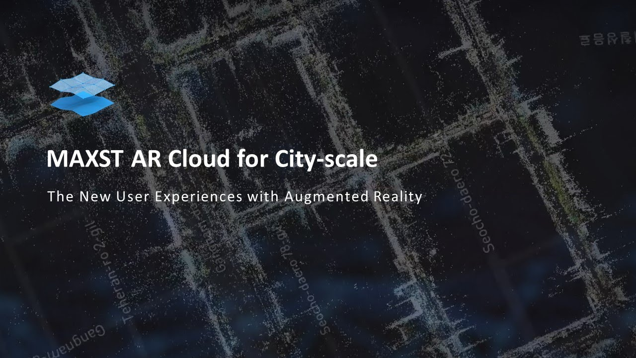 MAXST AR Cloud for City-Scale with Visual SLAM