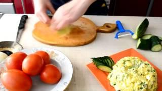 Полезные кулинарные советы Как красиво нарезать огурцы и помидоры