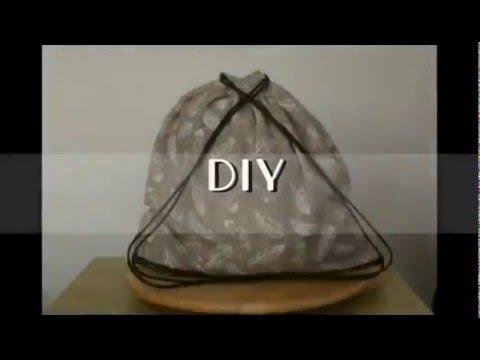 9bfafa8215aa DIY - Tornazsák   Gym bag - YouTube