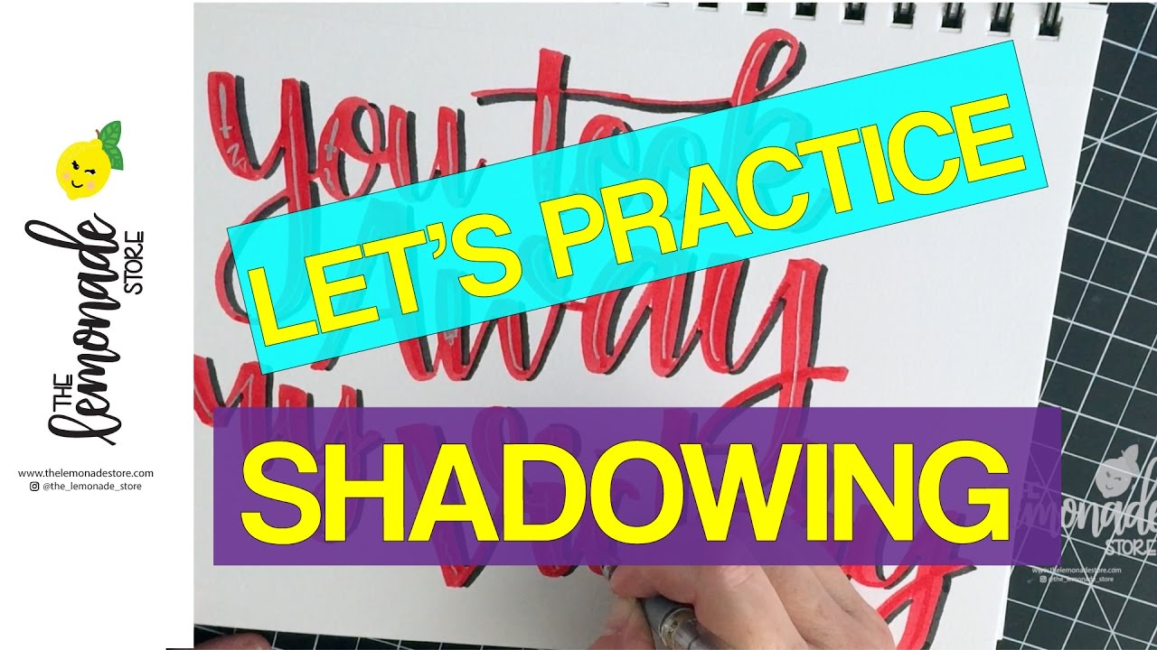 How To Draw Shadows For Hand Lettering Tips To Help You Practice