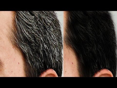 Apply it 1 Night // White Hair Turn To Jet Black Permanently CONVERT GREY HAIR TO BLACK