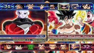 Jiren VS Goku All Form´s (Dragon Ball Super) - Dragon Ball Z Budokai Tenkaichi 3