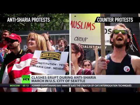Clashes erupt during 'anti-Sharia' march in Seattle, USA