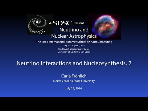 Neutrino Interactions and Nucleosynthesis, 2 - Carla Fröhlich