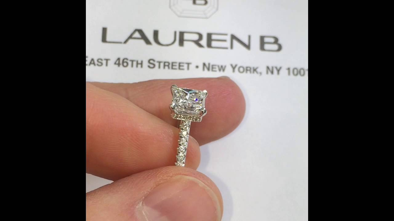 51e96f985bc39 1.5 ct Princess Cut Diamond Engagemnt Ring