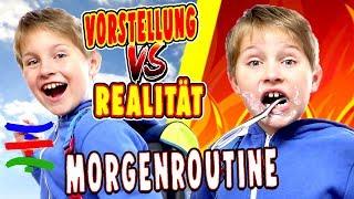 Morgen Routine - VORSTELLUNG vs. REALITÄT 😁 TipTapTube Family 👨👩👦👦