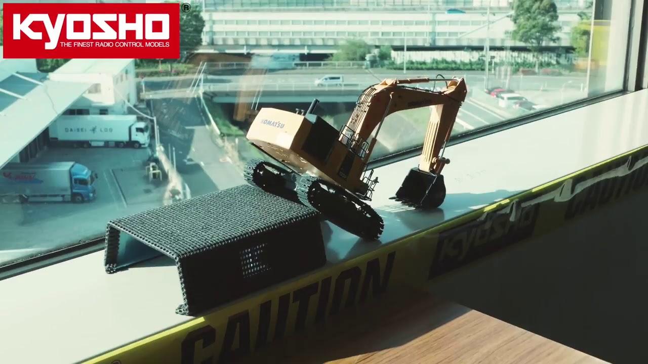 KYOSHO 小松工程 怪手挖土機 Hydraulic Excavator - YouTube