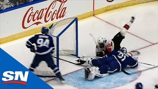 Frederik Andersen Stonewalls Anthony Duclair With Great Sprawling Save