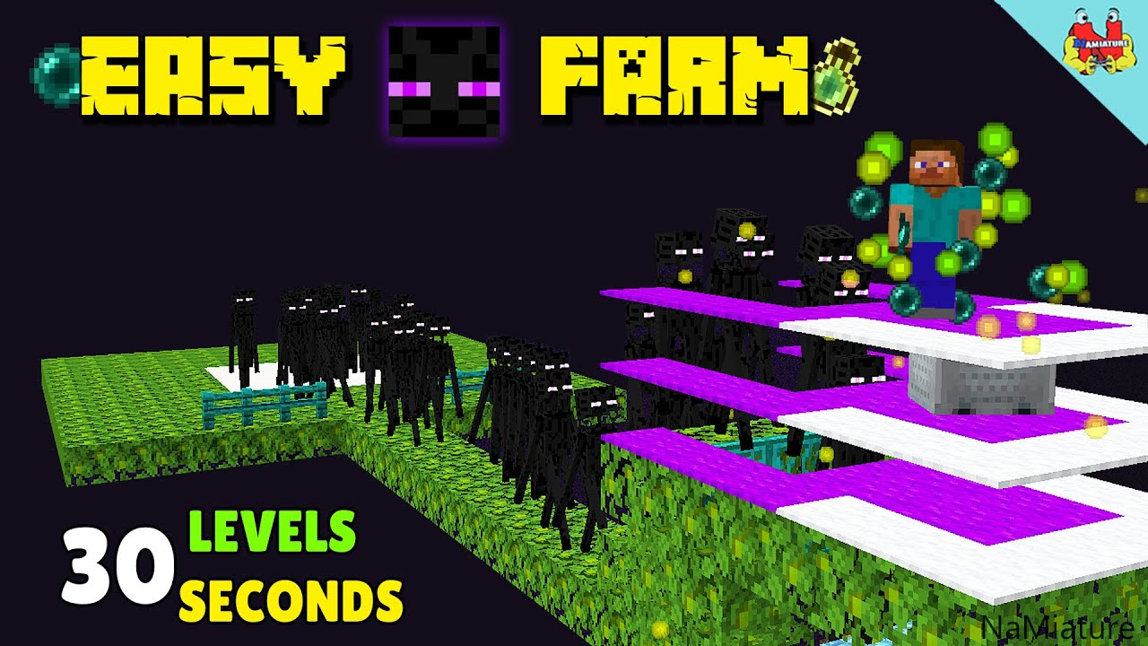 Minecraft Enderman Farm Tutorial - SUPER FAST & EASY XP FARM