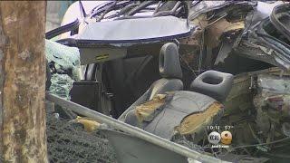 Driver Dies After Car Is Split In Half In Violent San Bernardino Crash