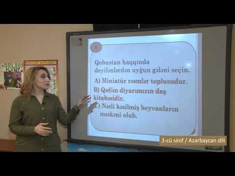 """""""Dərs vaxtı"""": 3-cü sinif dərsləri  (15.05.2020)"""