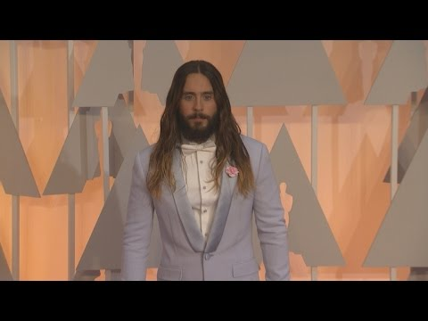 Jared Leto's Oscars Farewell Tour for His Hair: Looking Like Jesus, Photobombing, Etc.