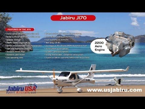 Jabiru J170 light sport aircraft from U.S. Jabiru Shelbyville, Tennessee USA.