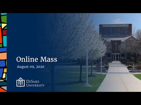 ✟ Online Mass, August 9, 2020 — DeSales University