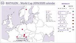 Biathlon World Cup 2019/2020 calendar