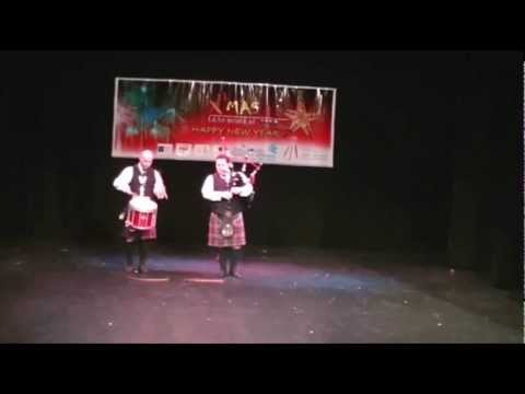 SCOTTISH BAGPIPES AND DRUMS MUSIC At Kerala Association Christmas Programme