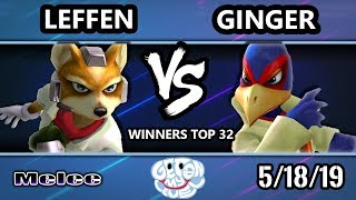GOML 2019 SSBM - TSM   Leffen (Fox) Vs. Ginger (Falco) Smash Melee Tournament Winners Top 32