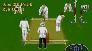Brian Lara Cricket Sega Mega Drive Genesis 1995