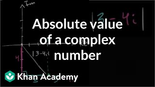 Absolute value of a complex number   Imaginary and complex numbers   Precalculus   Khan Academy