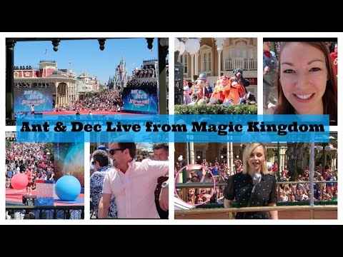 Ant and Dec's Saturday Night Takeaway Live from Magic Kingdom. Rehearsals and Live Show