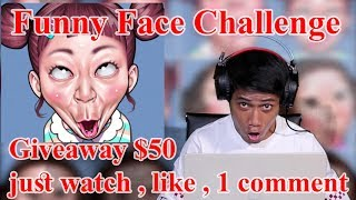 Challenge except 50K sub : funny face line sticker - jawas lucu  - giveaway $50
