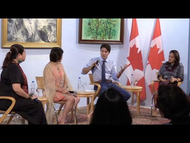 Trudeau pushes for women empowerment at Makati forum