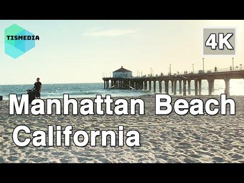 【4K】🇺🇸🌴Walking around Manhattan Beach and Pier in Los Angeles🎧, California, United States
