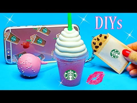 5 DIY Starbucks Projects {Easy}! Miniature Notebook,Pen,Phone Case,Lip Balm DIYs-DIY School Supplies