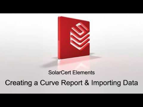 Creating an I-V curve report and importing data with Solarce
