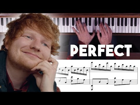 Perfect  Ed Sheeran Advanced Piano  with Sheet Music