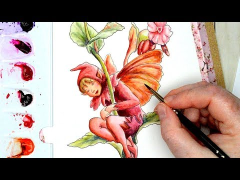 Using Sennelier Watercolors for a Flower Fairy Painting Study