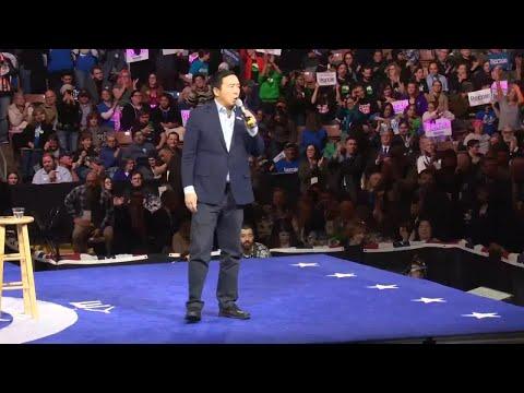 Andrew Yang Speaks At McIntyre-Shaheen 100 Club Event