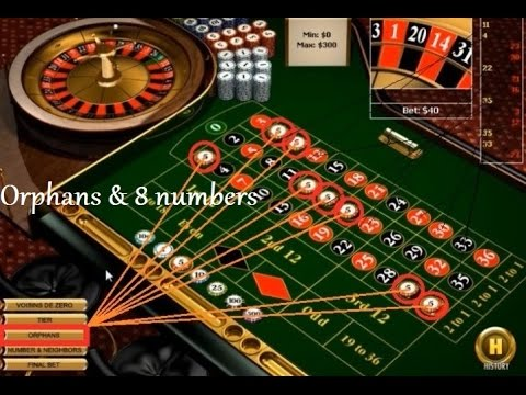 Betting system on orphans & 8 numbers straight up, and playing with this roulette strategy.