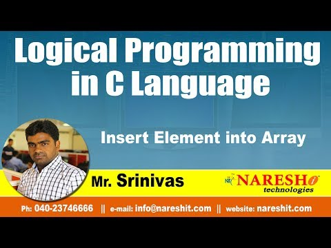 Insert Element into Array  | Logical Programming in C | by Mr.Srinivas