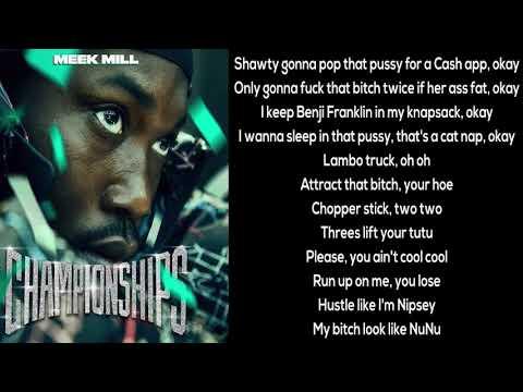 Meek Mill - Splash Warning feat. Future, Roddy Ricch & Young Thug [LYRICS]