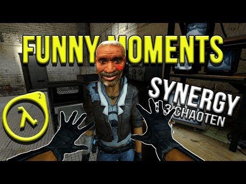 Half Life 2 Funny Moments! Ein schwerer Weg bis ans Ziel... (Synergy-Coop) [German]