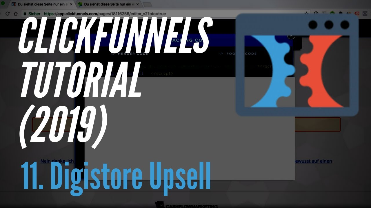 Clickfunnels Tutorial deutsch (2019) - 11. Digistore Upsell