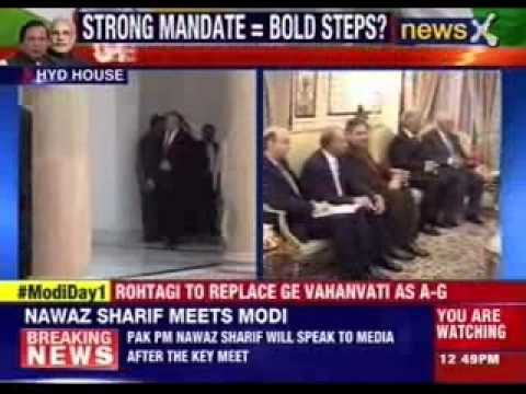 Pakistan PM Nawaz Sharif meets PM Narendra Modi