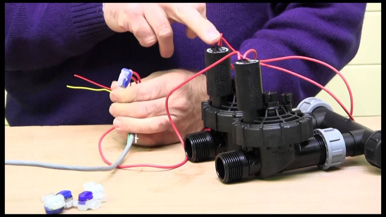 wiring an irrigation solenoid valve [ 1280 x 720 Pixel ]