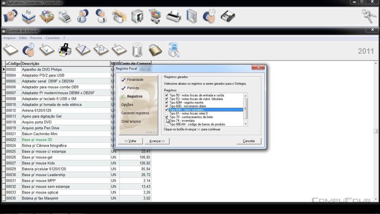 aplicativos comerciais compufour 2011