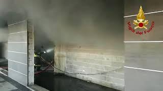 Incendio alle Torri di Campobasso