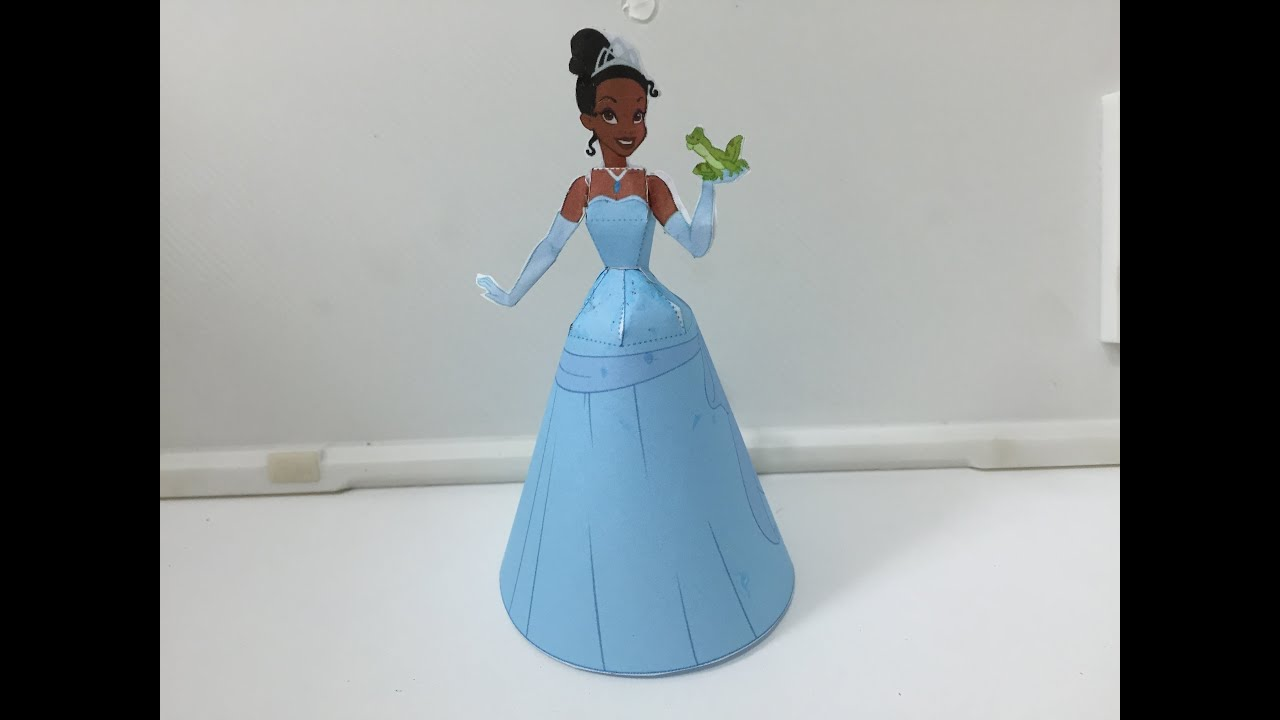 Paper Craft 3D The Princess And Frog Disney TIANA How To Make Tutorial