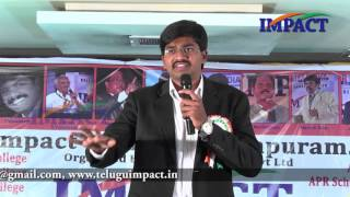 How to turn Intentions into Actions by Sudheer Sandra  at IMPACT Anantapur 2016