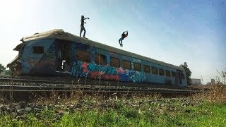 Boombing On Huge Train Accident | Grafffiti Parkour Freerunning | Promo