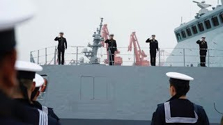 Russia's warship arrive at Qingdao for PLA Navy celebrations